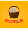 Easter card with rabbit Flat vector image