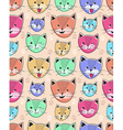 cute cat seamless pattern for children vector image