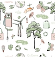 Doodles ecology and energy seamless pattern vector image