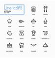 kitchen utensils - line design icons set vector image