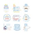 Little Prince Set Of Prints For Infant Boy Room Or vector image