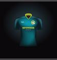 realistic football uniform branding mockup vector image