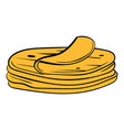 stack of tortillas icon cartoon vector image