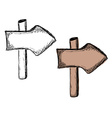 Set of doodle wooden sign boards vector image