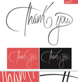 Thank You typography set vector image vector image