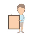 light color caricature faceless full body man vector image