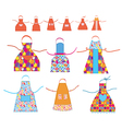 Aprons cooking set with patterns vector image vector image
