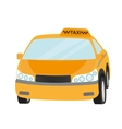 Taxi yellow car isolated on white vector image