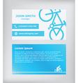 Business card Biking vector image