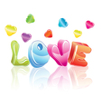 3d LOVE vector image