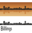 Billings skyline in orange vector image