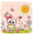 Cute Cartoon Owl vector image