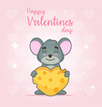 cute valentines card vector image