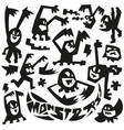 evil monsters - doodles vector image