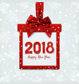 Happy new year 2018 design square banner vector image