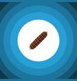 isolated bratwurst flat icon smoked sausage vector image