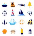 nautical icon vector image