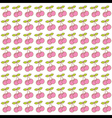 pink cherry pattern background vector image