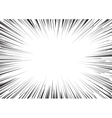 Background of radial lines for comic books vector image