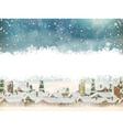 Winter holidays landscape EPS 10 vector image