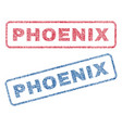 phoenix textile stamps vector image