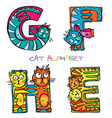 cat alphabet e f g h vector image