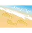 beach steps infographic vector image