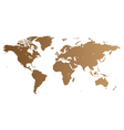 Brown World map vector image