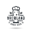 Craft beer brewery emblem vector image
