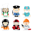 famous professions vector image
