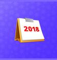 flip-flop 2018 calendar vector image