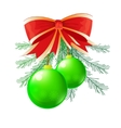 green Christmas ball vector image