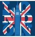 London Typography Graphics T-shirt design vector image