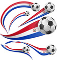 paraguay flag with soccer ball vector image