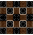 Squares seamless pattern brown colors vector image