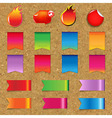 Web Ribbons And Labels Big Set With Cork vector image