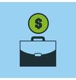 hand money portfolio icon graphic vector image