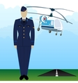 Military Uniform Force pilot-5 vector image vector image
