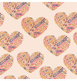 Valentines Seamless Abstract Pattern with hearts vector image