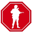 Stop war sign vector image vector image