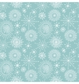 Seamless pattern with white hand drawn snowflakes vector image