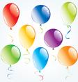 air balloons set vector image