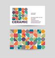 ceramic logo vector image