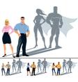 Couple Superhero Concept vector image