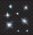 flares sparkles rays beams cold light effects vector image