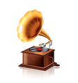 object gramophone vector image