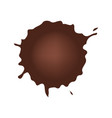 set of chocolate drop circle or blots on white vector image