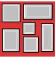 Set of frames on background vector image