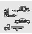 Set of trucks vector image