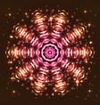 shining abstract star snowflake vector image